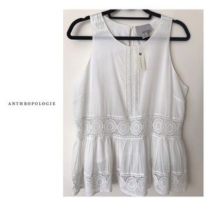 NWT Anthropologie Beaded Top
